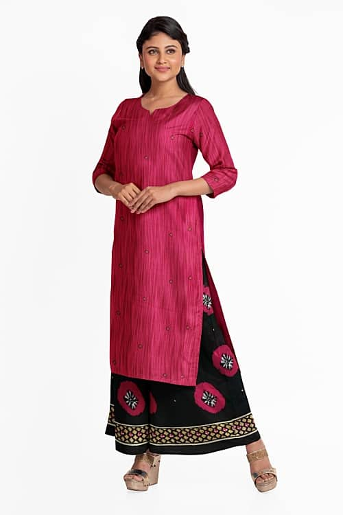 Modern salwar suit with palazzo digital draping in TRI3D