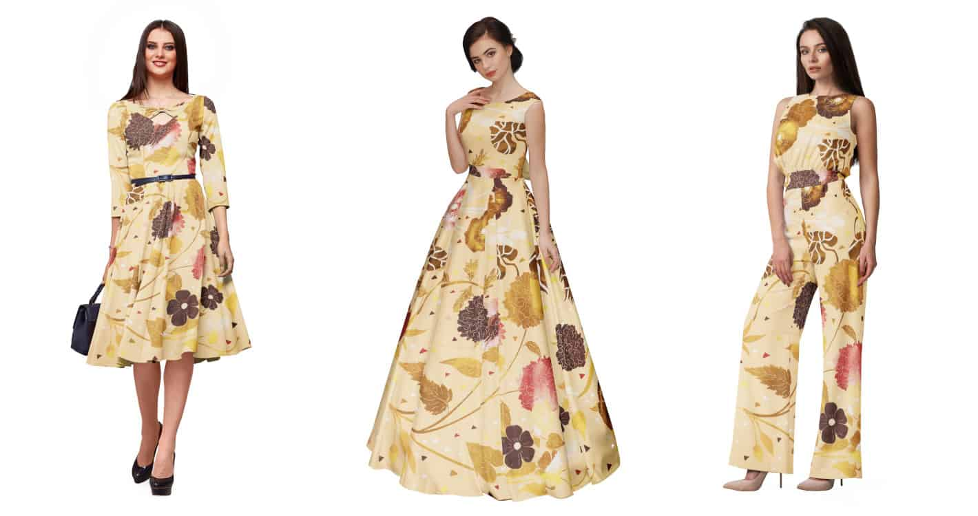 Fabric Visualization by TRI3D - Maxi Dress, Evening Gown, Jump Suit