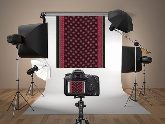 How to take photo of a dupatta in a studio for draping using TRI3D