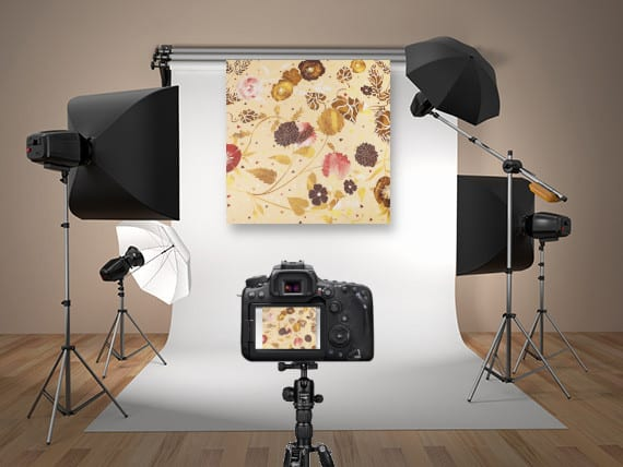 fabric photoshoot in a studio for TRI3D visualization software