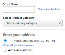 Store details to sell sarees on amazon.in